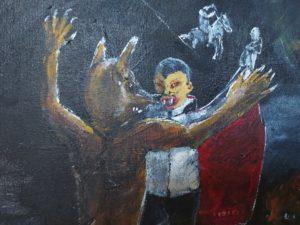 Werwolf-Vampir-Kampf